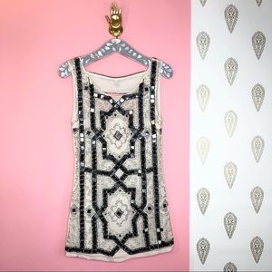 NEW Free People Sequin beaded open back dress
